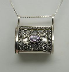 AMETHYST CREMATION JEWELRY STERLING SILVER CREMATION URN NECKLACE MEMORIAL in Everything Else, Jewelry & Watches | eBay