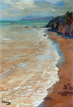 bofransson: Sir John Lavery (Irish, 1856 – 1941), From the Cliffs, c.1901
