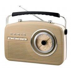 #Retro Radio #Weltempfänger #Nostalgie #50er Jahre Vintage #Design Küchenradio #Nostalgieradio Kofferradio (Beige)