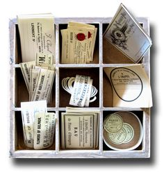 Antique Apothecary Labels