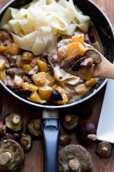 Nudeln mit Kürbis und Pilzen   Kaschula