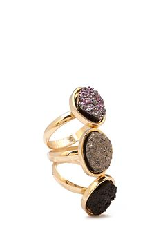Faux Geode Ring Set $4.80