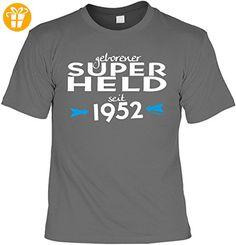 T-Shirt - Geborener Superheld Seit 1952 - lustiges Sprüche Shirt als Geschenk zum 65. Geburtstag (*Partner-Link)