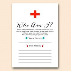 doctor nurse to be bridal shower game magical printable