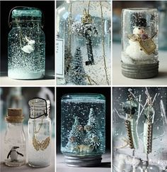 Art DIY mason jar snow globes - perfect for my tradition of making Christmas presents!! present-ideas