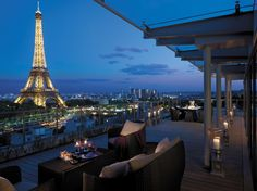 View of the Eiffel Tower from the Shangri-La Hotel in Paris