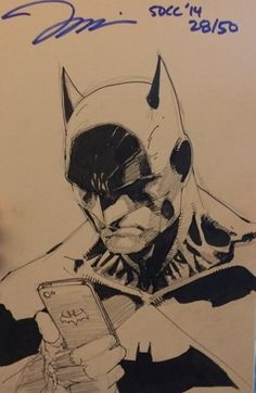 Batman with Batphone by Jim Lee * Jim Lee Batman, I Am Batman, Dc Comics, Batman Comics, Marvel Dc, Jim Lee Art, Batman Comic Art, Batman Beyond, Comic Drawing