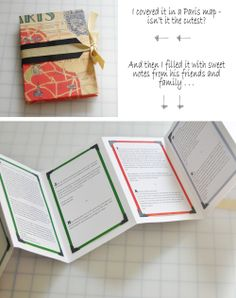 birthday present book full of messages and notes of love