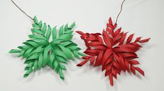 3D Snowflake DIY Tutorial - How to Make 3D Paper Snowflakes for homemade...