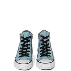 Converse All Star High-Top Sneaker ($70) ❤ liked on Polyvore featuring shoes, sneakers, high top shoes, small heel shoes, converse sneakers, converse high tops and converse shoes