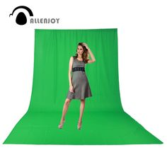 Allenjoy Hromakey muslin chromakey green screen background backdrop Professional Photo studio film photography excluding support