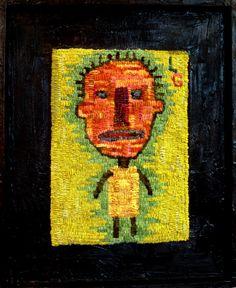 Hooked Rug art, primitive art design
