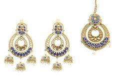 3a120bd5a @glimour_jewellery — Glimour Jewellery. Bollywood CostumeJhumki EarringsIndian  BollywoodJewelry CompaniesBridesmaid JewelryBlue GoldAntique GoldEarring Set  ...
