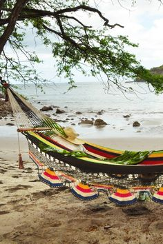 When you tire of outdoor activities, bring your book and laze on the beach hammock. #Jetsetter