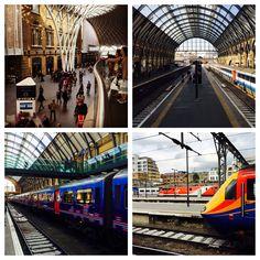 Scenes of King's Cross Station, London