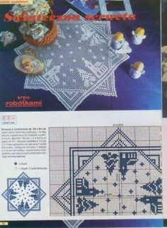 Instructions Crochet doilies for winter- Crochet Christmas Decorations, Crochet Christmas Trees, Holiday Crochet, Christmas Ornaments To Make, Christmas Cross, Crochet Winter, Xmas Cross Stitch, Counted Cross Stitch Patterns, Doily Patterns