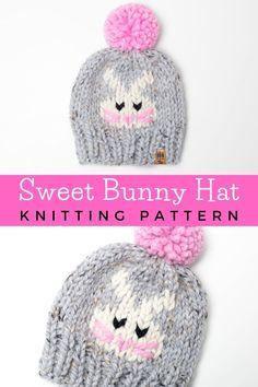 Halloween Knitting Patterns, Kids Knitting Patterns, Easy Knitting Projects, Baby Hats Knitting, Knitting For Kids, Loom Knitting, Free Knitting, Knitted Hats, Hat Patterns