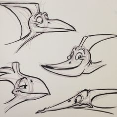 #pterosaur #pterodactyl #dinosaur #dino #cartoon #brushpen #breaksketch