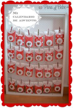 Christmas Treats, Christmas Holidays, Xmas, Christmas Stuff, Ideas Para, Thing 1, Diy, Holiday Decor, Advent Calendars