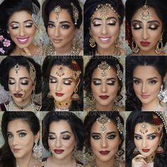 Indian/Pakistani Bridal Hair and Makeup Inspiration from Magnifiedbeauty on Instagram. Pink orchid studio, dress your face, Punjabi bridal wedding makeup inspiration