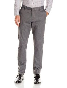 Dockers Mens Gray Heather Pacific Modern Khaki Athletic Fit Flat Front Casual Dress Work Pants Size 33 X 32