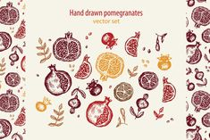 You will get: 1 PNG hi-res) file with 22 hand drawn elenents isolated on transparent background 1 JPEG hi-res) file with 22 hand drawn elenents Pomegranate Drawing, Pomegranate Tattoo, Pomegranate Vector, Pomegranate Art, Jewish Tattoo, Hawk Tattoo, Tattoo Art, Tarot, Tattoo Addiction