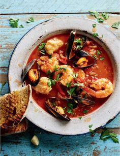 TV cooks' best ever recipes: Rick Stein reveals his best-loved dishes The recipe for this cioppino, or fish stew, was given to me by Tadich Grill, the oldest restaurant in California Rick Stein, Italian Fish Stew, Italian Fish Recipes, Monkfish Recipes, Seafood Recipes, Cooking Recipes, Cooking Tv, Dishes Recipes, Seafood Stew