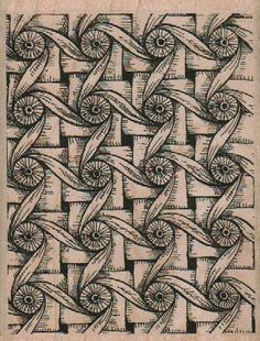 Rubber stamp Tangle  Zentangle wood Mounted  scrapbooking supplies number 18812   twisted circles