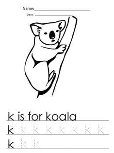 Kindergarten Worksheets K