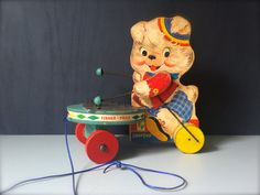 Vintage Pull Toy Fisher Price Pull Toy by HoneyBeeHillVintage