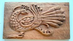 Celtic Peacock Wood carving Handmade Woodcarving by OrionCarvings