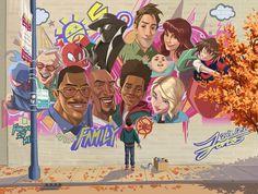 Spiderman: Into the Spider Verse Marvel Dc Comics, Marvel Art, Marvel Memes, Marvel Avengers, Spider Art, Spiderman Spider, Spider Gwen, Spider Verse, Miles Morales Spiderman