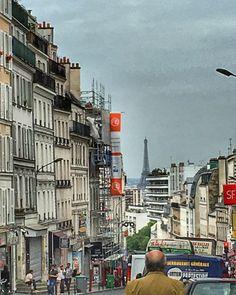 La Tour Eiffel vue de Belleville Paris 20eme