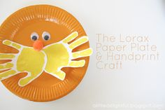 The Lorax paper plate - too cool!!