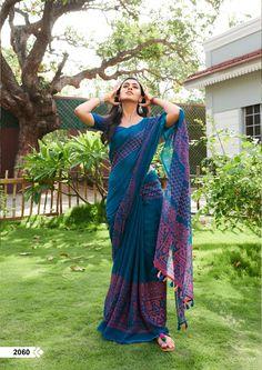 New Trendy Printed Heavy Linen Cotton Saree Material Used: Golden Zari Satin All Saree Are Made Of Best Quality Available In The Market. Blouse Is Att. Simple Sarees, Trendy Sarees, Stylish Sarees, Fancy Sarees, Khadi Saree, Lehenga Choli, Anarkali, Sabyasachi Sarees, Salwar Kameez