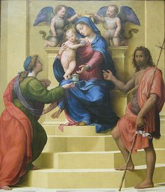 Bugiardini Madonna and Child Enthroned with Saints Mary Magdalen and John the Baptist, ca. 1510–15  #TuscanyAgriturismoGiratola