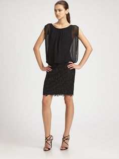 Chiffon and Lace Dress