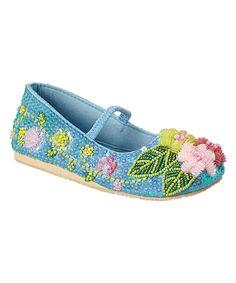 Look at this #zulilyfind! Fairy Dreams Blue Sequin Bloom Flat by Fairy Dreams #zulilyfinds