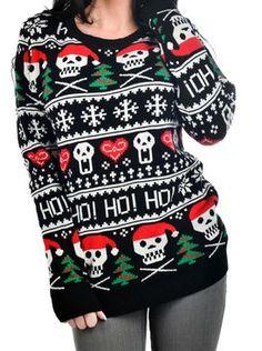 Ho Ho Ho Christmas Skull Sweater - FTGS