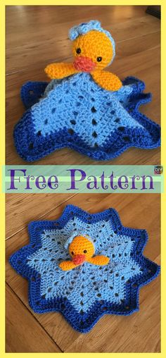 Crochet Patterns Free Baby Lovey Granny Squares Ideas For 2019 Crochet Baby Blanket Free Pattern, Crochet Amigurumi Free Patterns, Free Crochet, Crochet Star Blanket, Afghan Crochet, Crochet Security Blanket, Baby Lovey, Easter Crochet, Crochet Projects