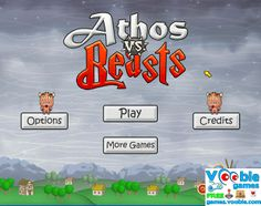 Trow the bombs at evil beasts to destroy them.