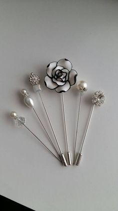 Check out this item in my Etsy shop https://www.etsy.com/uk/listing/400896929/crystalpearl-pin-set