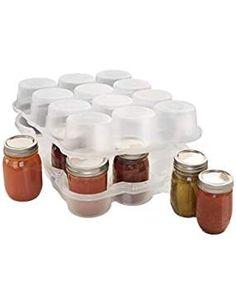 JarBox Protector for Canning Jars, Semi-Clear, Jars on Amazaon Canning Jars, Mason Jars, Kitchen Dining, Fruit, Madness, Beans, Veggies, Food, Eten