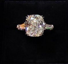 The ultimate Harry Winston engagement ring - a gorgeous solitaire in platinum....