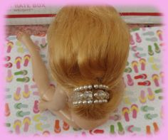 Vintage Vogue Dolls Jill Doll Fancy Hair Clip Ponytail Holder Sparkles in Dolls & Bears, Dolls, By Brand, Company, Character   eBay
