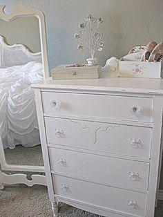 for old white dresser