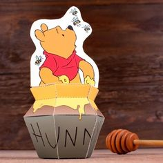 Free Printable Winnie The Pooh Paper Toy.