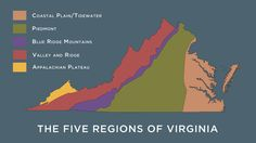 The Five Regions of Virginia