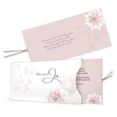 Extravagante Hochzeitseinladung mit eleganten Blütenmuster