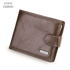 8.79$  Watch now - http://ali87c.shopchina.info/go.php?t=32800282406 - Coffee Real Cowhide Genuine Leather Wallets Men Bifold Coin Purse Man ID Credit Card Holder Carteira portefeuille porte monnaie   #magazineonlinebeautiful